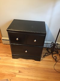 Black wooden, 2 drawer night stand  Minneapolis, 55418