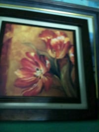 red and white flower painting with black wooden frame Odessa, 33556