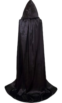 """Brand New Seal In Bag Halloween Costumes Hooded Cape Cloak with Hood Black Cloaks Cosplay for Women/Men Length 58"""" (from Shoulder to Hem) Hayward, 94544"""