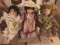 Three female dolls in dresses Edmonton, T5C 2W6