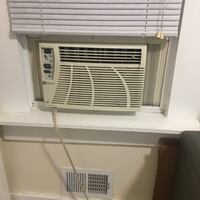 White window-type air conditioner 206 mi