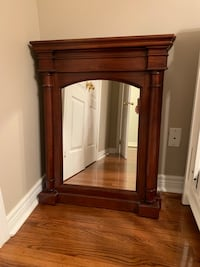 Two mirrors with wood frame