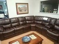 NEW LEATHER AIR ELECTRIC RECLINING SECTIONAL  Elmvale, L0L 1P0