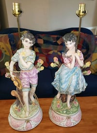 Authentic Capodimonte table lamps
