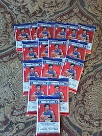 Unopened Basketball Trading Cards.