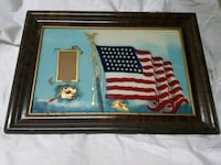 Antique Painted Flag w/48 Stars& place to insert  64 km