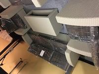 4 pieces outdoor patio set. Sofa, 2 chairs and table. Brand new.  Bedford