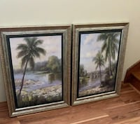 Palm tree wall decor pictures ($10 each)