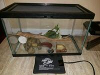 black framed glass tank with supplies for gecko Toronto, M1C 1C3