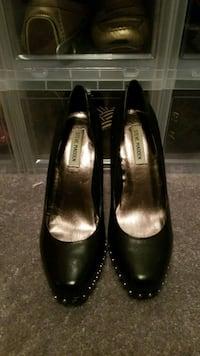 pair of black leather flats Rochester, 14619