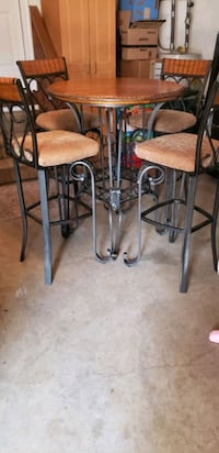 Bar Height Table and 4 Bar Chairs