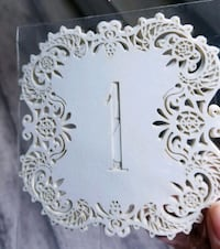 1-20 or 30 Laser cut table numbers Mississauga, L5M 4V3