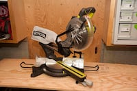 15-AMP 10 inch SLIDING MITRE SAW WITH LASER RYOBI MODEL TSS102L Calgary