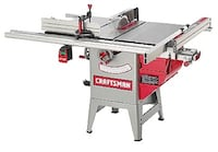 Gray and red Craftsman table saw