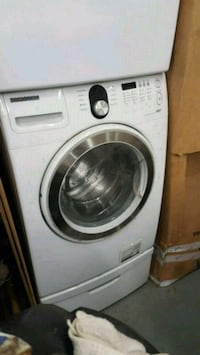white Samsung front-load washer Alexandria, 22310