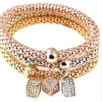 New Beautiful Set of 3 Bracelets,  3 colors- Silver, Gold, Rose Gold  London, N6C 4W2