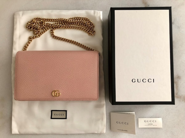 35c85f05521cc Used Gucci Marmont leather mini chain bag for sale in SF - letgo