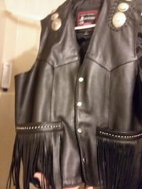 SOLD~Like New* JR Leather Mens XL• genuine leather •silver conchos •  Remus, 49340