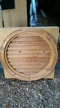 Solid wood round gable vent Commerce, 30529