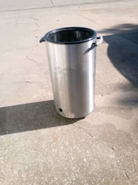 Ice chest free-standing approximately 4 feet tall stainless steel