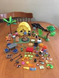 Playmobil camping accessories and people Niagara Falls, L2H 1X3