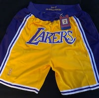 BRAND NEW JUST DON LOS ANGELES LAKERS  NBA SHORTS Mc Lean, 22102