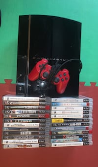 Ps3 80gb with controller and 24 games