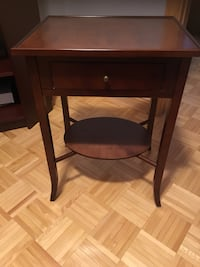 One draw wooden accent table