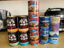 Assorted canned dog/puppy food