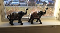 Two black ceramic elephant figurines Fort George G Meade, 20755