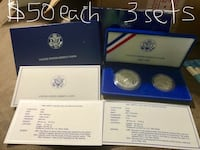 Two silver commemorative coins Little River, 29566