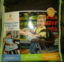 Shopping cart and high chair cover pack