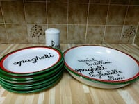 Ceramic Spaghetti Dish Set.. Minor chip  Laval, H7W 2S1