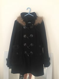 black and gray fur-lined parka jacket Whitby, L1N 1W4