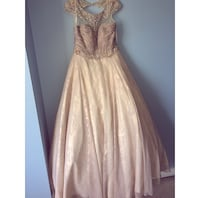 women's pink and silver sleeveless dress Surrey, V3W
