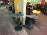 two round gray metal side tables Duncan, V9L