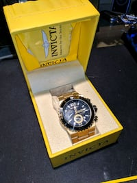 round Invicta chronograph watch with gold  Kettleby, L0G 1J0