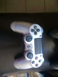 white Sony PS4 game controller null
