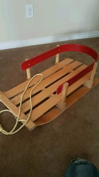 brown wooden rocking horse toy Edmonton, T5L 1A9
