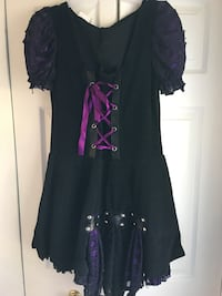 pirate dress and gloves size 12/14