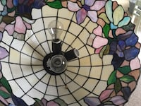 Multicolored stained glass lamp shade Hummelstown