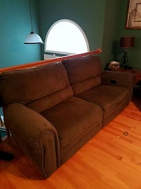Free green reclining couch.
