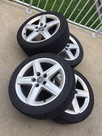 Set of 4 mags with winter tires