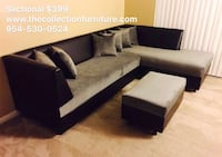black and white sectional couch Plantation, 33317