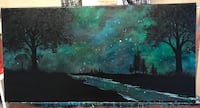 painting of stars and trees Red Deer, T4R 0S3