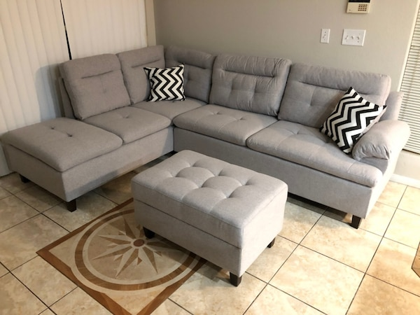 New!!! 3pc Grey Sectional Sofa • $49 Down Payment • No Crédito Check 09cca25d-e185-45b8-9f73-c0957b211b8c