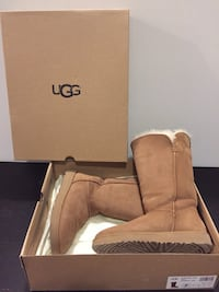 Brown leather boots in box Cambridge, N1T