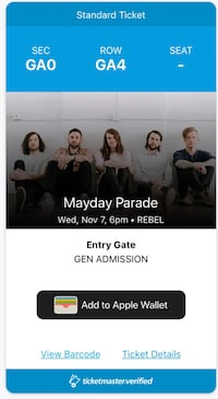 2x mayday parade tickets  Oakville, L6H 4K7