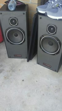 two black-and-gray speakers Kitchener, N2A 4A6