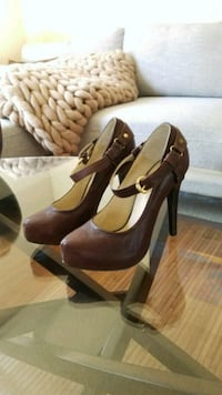 Brown Leather Pump, Size 7 Hawthorne, 90250